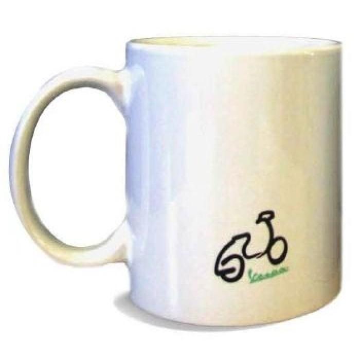 """Vespa Κούπα Καφέ Επετειακή """"70 Χρόνια"""" Λευκή"""