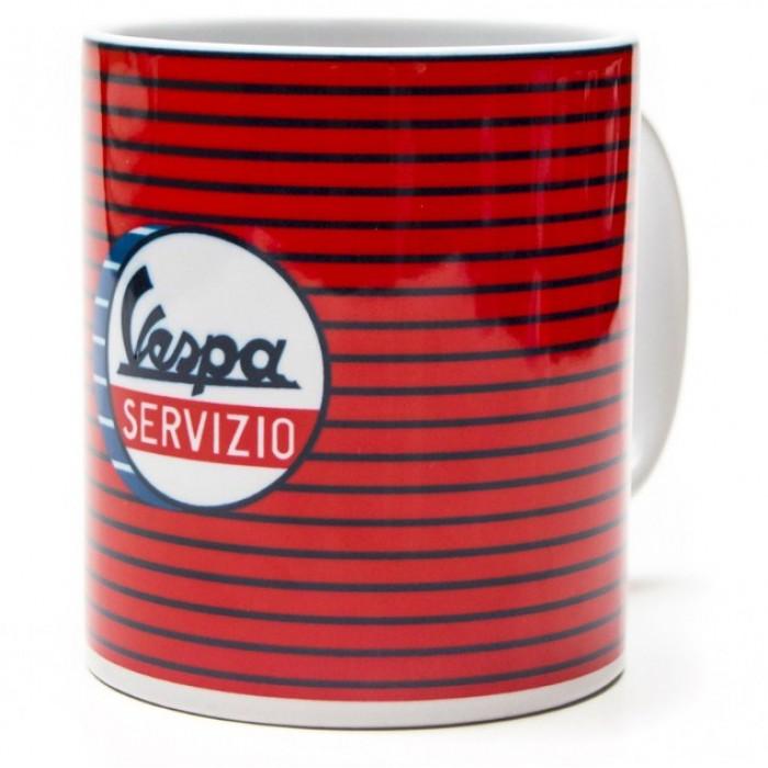 "Vespa Κούπα Καφέ ""Servizio"" Κόκκινη Ρίγα Κούπες"