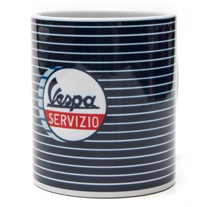 "Vespa Κούπα Καφέ ""Servizio"" Μπλε Ρίγα Κούπες"
