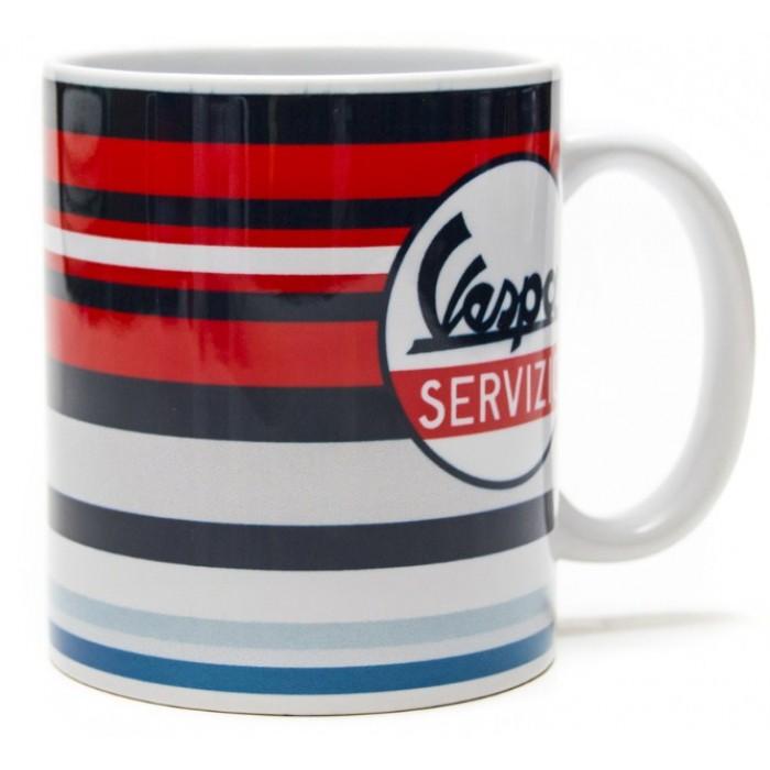"Vespa Κούπα Καφέ ""Servizio"" με Ρίγες Multicolor Κούπες"