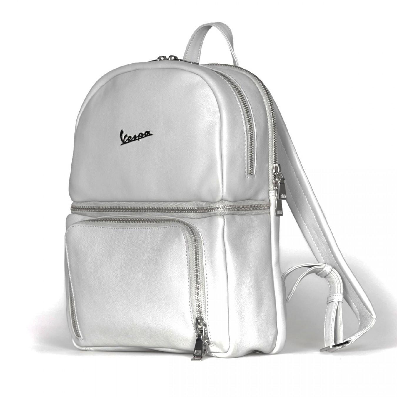 b0f0b386ab ... Vespa Σακίδιο Πλάτης Primavera 50TH Anniversary Backpack - Genuine Full  Grain Leather - Pearl Grey Τσάντες ...