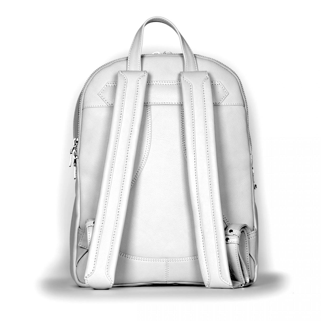 4340206f90 ... Vespa Σακίδιο Πλάτης Primavera 50TH Anniversary Backpack - Genuine Full  Grain Leather - Pearl Grey Τσάντες