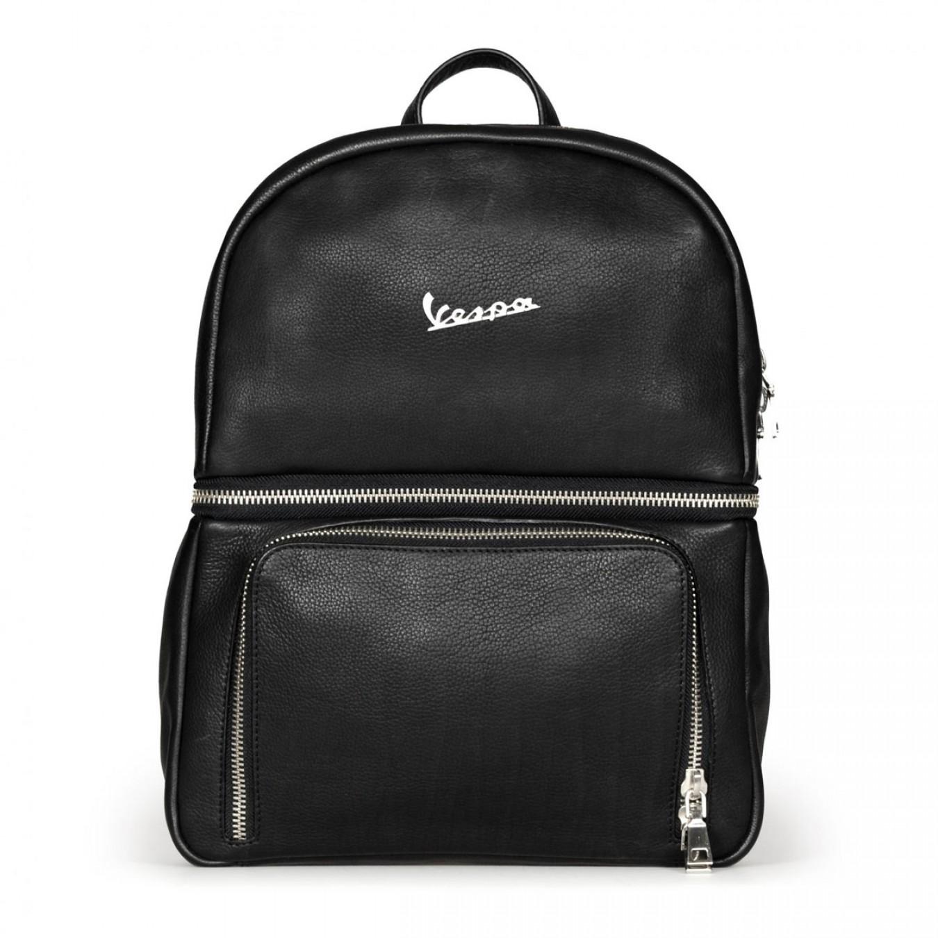 59c49bcc66 Vespa Σακίδιο Πλάτης Primavera Backpack- Genuine Full Grain Leather - Black  Τσάντες   Σακίδια